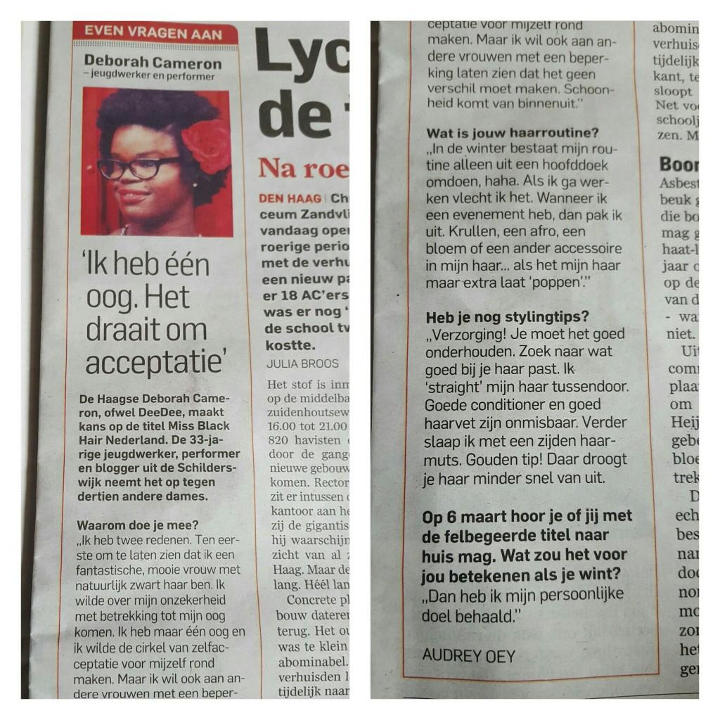 DeeDee @ AD/Haagse Courant